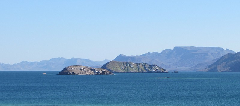 The Sea of Cortez on the eastern side of the Baja California peninsula.