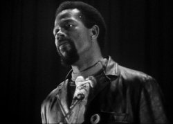 Eldridge Cleaver, a leader in the Black Panther Party, San Francisco, 1968.