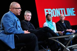 "During PBS' FRONTLINE ""The Interrupters"" session at the TCA Winter Press Tour in Pasadena, Calif. on Thursday, January 5, 2012, featured participant Tio Hardiman Oscar-nominated filmmaker Steve James, featured participant Ameena Matthews and author Alex Kotlowitz  discuss how a group of former gang leaders attempt to ""interrupt"" shootings and protect their communities from the violence they once committed."