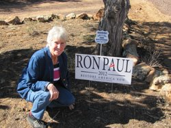 Karen Johnson is a Ron Paul supporter from Linden, Ariz.