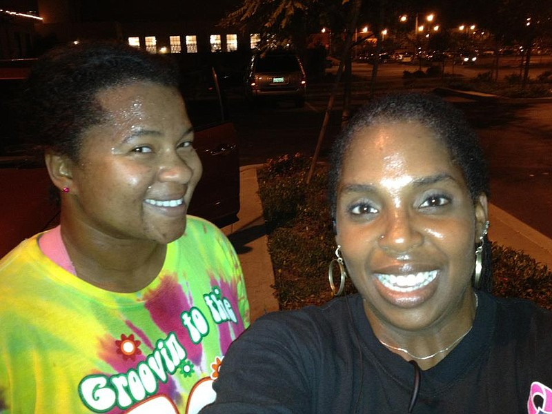 Members of Black Girls Run, San Diego Chapter after a run at Liberty Station.