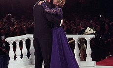 President Clinton dances with First Lady Hillary Rodham Clinton at the 1993 I...