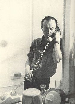 "Mid-century poet Frank O'Hara, whose poem ""Wind"" was the basis of Morton Feldman's composition ""Three Voices."""