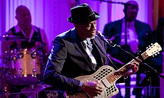 "Keb Mo performs as President Barack Obama and First Lady Michelle Obama host IN PERFORMANCE AT THE WHITE HOUSE ""Red, White And Blues"" in celebration of Blues music in the East Room of the White House, Feb. 21, 2012."