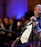 "B.B. King performs as President Barack Obama and First Lady Michelle Obama host IN PERFORMANCE AT THE WHITE HOUSE ""Red, White And Blues"" in celebration of Blues music in the East Room of the White House, Feb. 21, 2012."