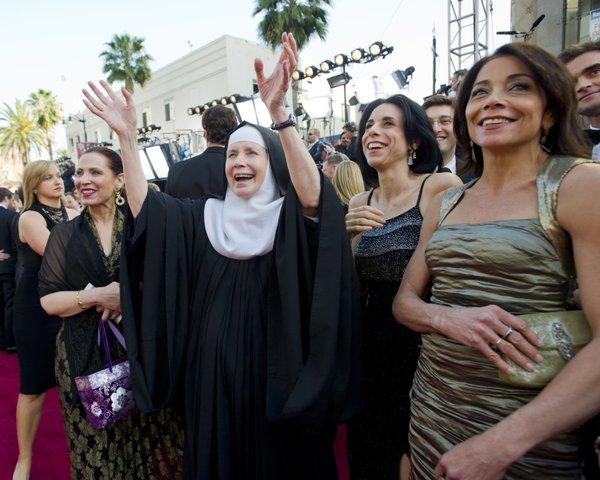 Yes even a nun was on the red carpet this year.