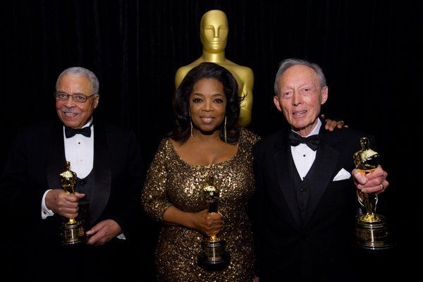 You don't put Darth Vader and Oprah in the corner! James Earl Jones, Oprah Winfrey, and make up artist Dick Smith receive special awards but are not even brought onto the stage. What's up with that?