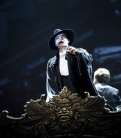 "Ramin Karimloo as The Phantom in ""Phantom Of The Opera At Royal Albert Hall."""