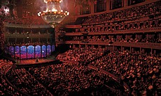 "Aerial shot of the audience watching ""Phantom Of The Opera,"" at London's Royal Albert Hall."