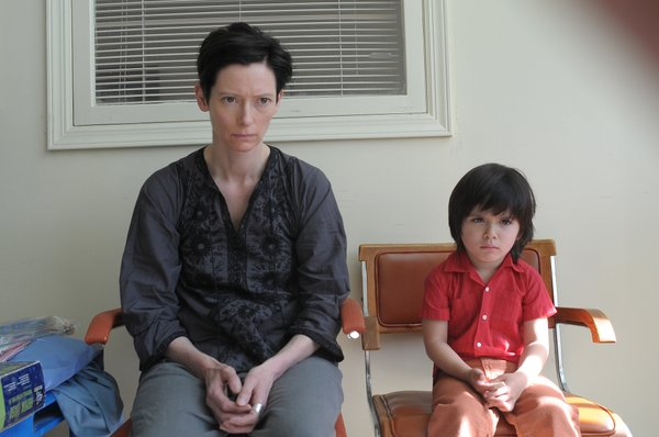 "Tilda Swinton and Rocky Duer in ""We Need to Talk About Kevin."""