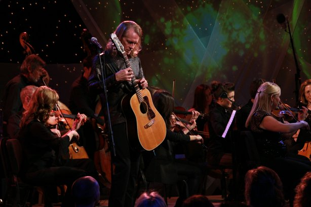 Billy McLaughlin performs with Orchestra Nova in the KPBS studio.