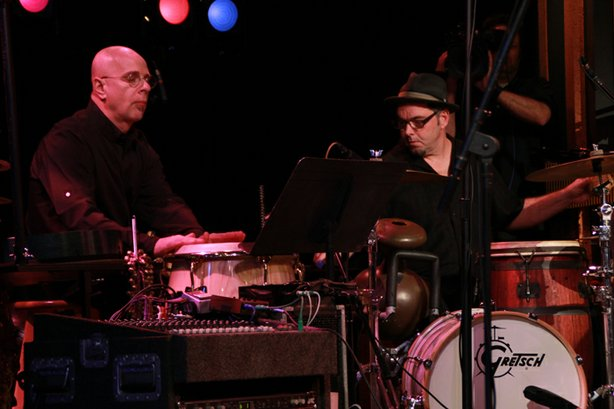 """Master percussionists and long-time friends of Billy, Marc Anderson and Jimi Englund added their wide array of percussion sounds and skills to the existing arrangements as well as a never-before-recorded string arrangement of """"While She Sleeps"""" by Jacob Tews."""