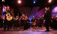 Billy McLaughlin performs with Orchestra Nova, conducted by Jung-Ho Pak in the KPBS studio.