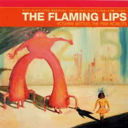 "The album cover of The Flaming Lips' ""Yoshimi Battles The Pink Robots""."