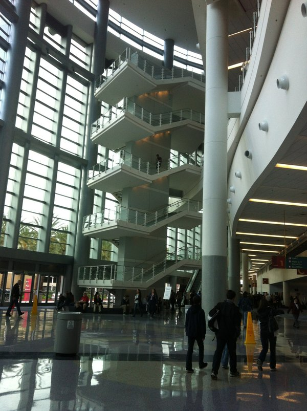 "The view of the Anaheim Convention Center that made my friends exclaim that it looked like ""logan's Run."""
