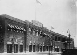 The exterior of Fenway Park, 1914.