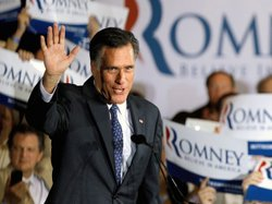 Republican presidential candidate and former Massachusetts Gov. Mitt Romney a...