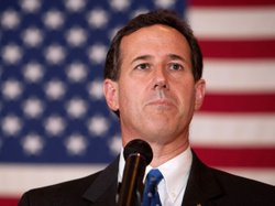 Republican presidential contender Rick Santorum during a campaign event Sunda...
