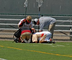 Tommy Mallon was injured in his final lacrosse game at Santa Fe Christian High School in the spring of 2009. Doctors say if he had been moved before paramedics arrived, he would have died, or been left a quadriplegic.