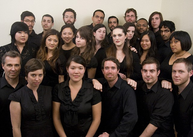 Local choral ensemble SACRA/PROFANA, who will perform