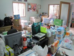 Some of the donations brought by American visitors to the Casa Hogar Sion orphanage.