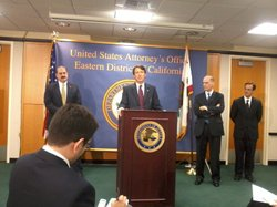 U.S. Attorney Ben Wagner discusses Friday's guilty plea by Democratic campaig...