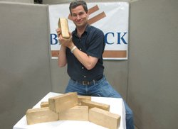 David Pogue pouring gold bars at Barrick's Cortez Gold Mine in Nevada.