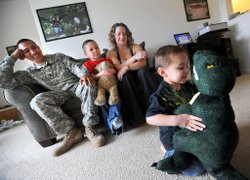 Military family with autistic child