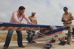Host Jorge Meraz visits the R/C airplane field where we see local aviation enthusiasts maneuver their remote control airplanes.