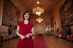 Host Fiona Bruce in Windsor Castle.