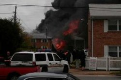 A Navy jet crashed into an apartment complex in the 900 block of S. Birdneck Road in Virginia Beach on April 6, 2012.