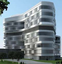 A design of the new Jacob's Medical Center.