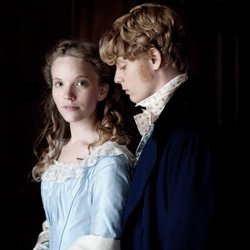 """Rosa Bud (Tamzin Merchant) and Edwin Drood (Freddie Fox) in Masterpiece Classic's """"The Mystery Of Edwin Drood."""""""
