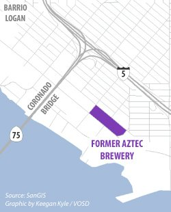 Location of the former Aztec Brewery Co. in Barrio Logan.
