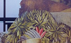 A piece of a mural painted in the 1930s on the walls of the Aztec Brewing Co. Courtesy of City of San Diego.