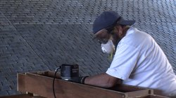 Retired plumber Roy Libby volunteers four days a week on the San Salvador con...
