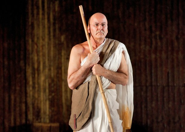 "Richard Croft portrays Gandhi in Philip Glass' unforgettable opera ""Satyagraha."""