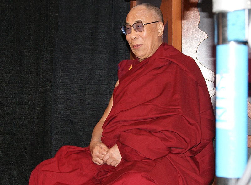 The 14th Dalai Lama, Tenzin Gyatso, is interviewed for KPBS Midday Edition be...