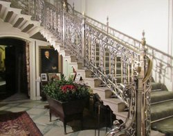 The silver staircase at Manderston, an Edwardian country house in Berwickshire.