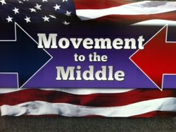 The logo for the newly formed group Movement To The Middle. The group is advo...