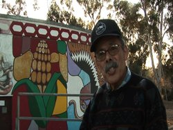 "Sal Barajas, an artist featured in ""Under The Bridge."""