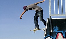 Gila River Indian skateboarder, 2009