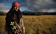 Lee Nash (White Mountain Apache) of the 4-Wheel Warpony skate crew, 2008. 