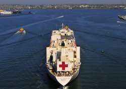 USNS Mercy in San Diego Bay