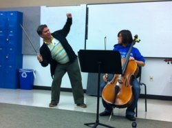 Venezuelan Cellist German Marcano talked with Senior Lisa Trimm, 18, about re...