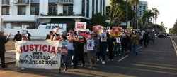 About 150 people marched from San Diego's Balboa Park to downtown as part of ...