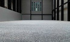 "Ai Weiwei's ""Sunflower Seeds,"" 2010. Porcelain,paint, 100 million sunflower seeds; dimensions variable. ""The Unilever Series,"" Tate Modern, London."