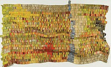 "El Anatsui. ""River Crossing,"" 2007. Aluminum and copper wire; 103 x 141 inches."