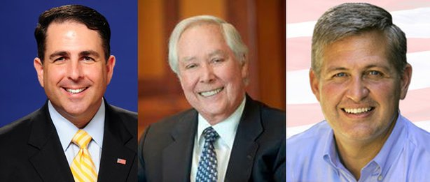 Steve Danon, Carl Hilliard and Dave Roberts, candidates for San Diego County Board of Supervisors.