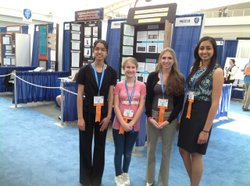 Apoorva Mylavarapu, Sara Simpson, Melissa Fagan and Manita Singh, all San Diego students, are finalists in the Intel International Science and Engineering Fair.